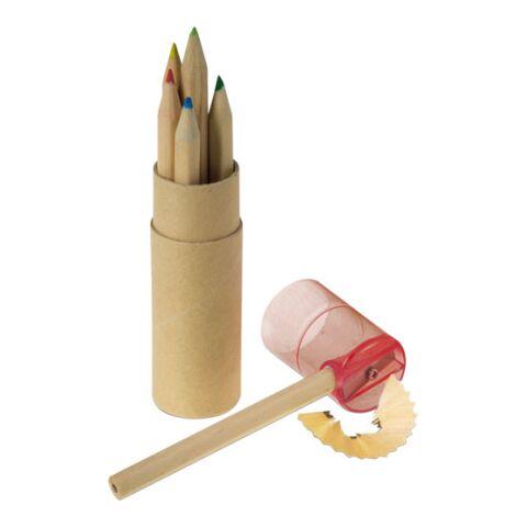 Tube cartonné de 6 crayons