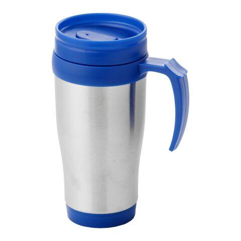 Mug isotherme Sanibel argent-bleu | sans marquage | non disponible | non disponible
