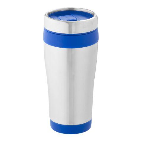 Mug isotherme Elwood argent-bleu | sans marquage | non disponible | non disponible
