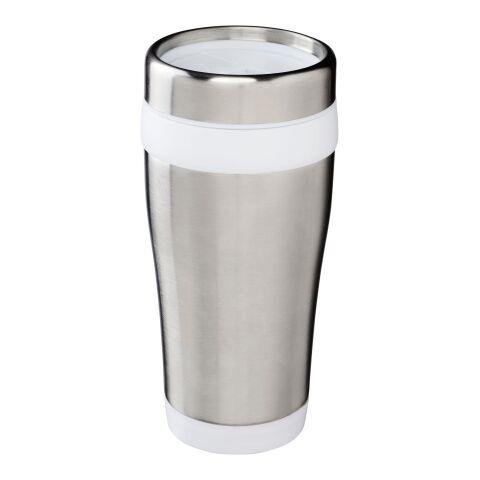 Mug isotherme Elwood Standard | Argent-Blanc | sans marquage | non disponible | non disponible