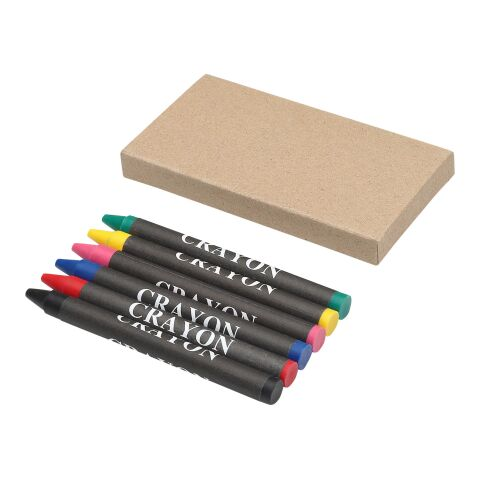 Crayons gras 6 pièces