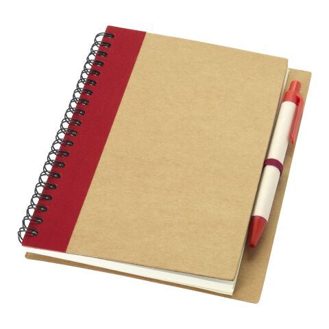 Carnet de notes avec un stylo Priestly Standard | Naturel-Rouge | sans marquage | non disponible | non disponible | non disponible