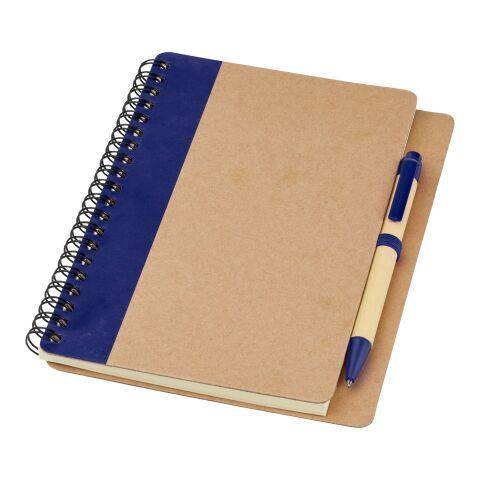 Carnet de notes avec un stylo Priestly naturel-marine | sans marquage | non disponible | non disponible | non disponible
