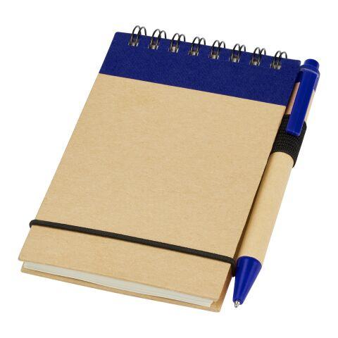 Bloc-notes avec stylo Zuse Standard | Naturel-Marine | sans marquage | non disponible | non disponible | non disponible