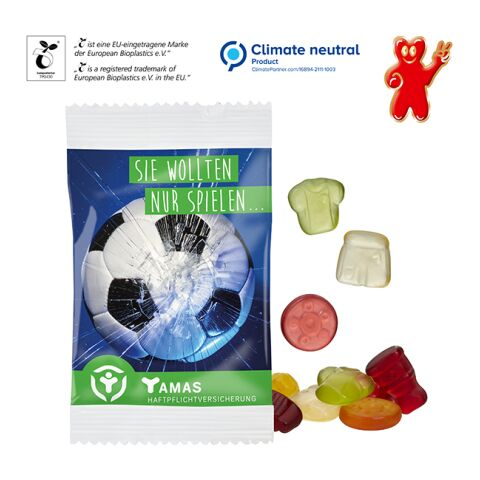 Gomme de fruit, 15 g  - formes standards en sachet compostable blanc | sans marquage | non disponible