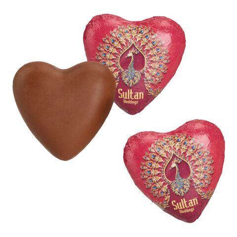 Cœur en chocolat au lait blanc | sans marquage