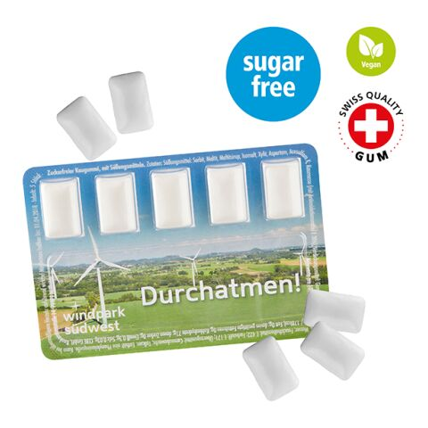 Smart Card avec chewing-gum sans sucre