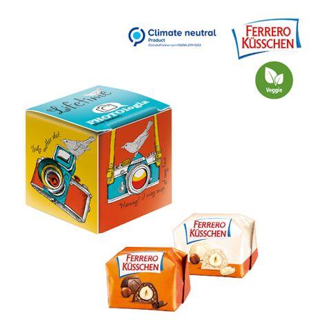 Mini-cube publicitaire Ferrero Küsschen blanc | sans marquage