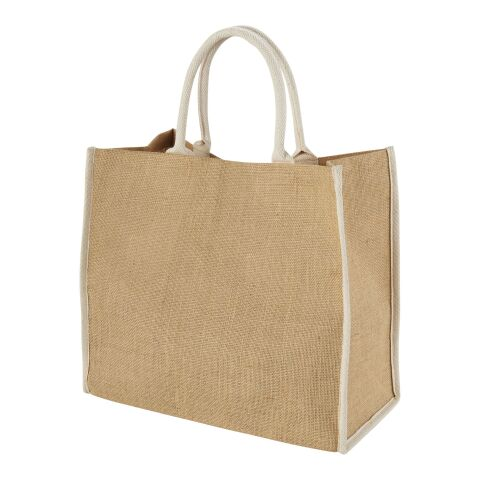 Grand Sac Shopping Jute Naturel-Blanc | sans marquage | non disponible | non disponible