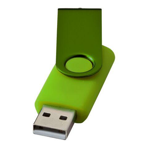 Clé USB Métallique rotative 2Go Standard | Citron vert | sans marquage | non disponible | non disponible | non disponible