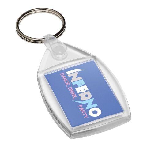 Porte-clefs plastique Lita avec attache en métal