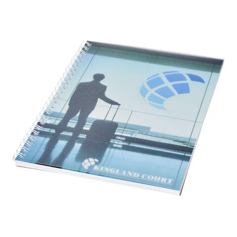 Cahier Desk-Mate® à spirale A5 avec couverture PP Blanc | 50 Blatt | sans marquage | non disponible | non disponible