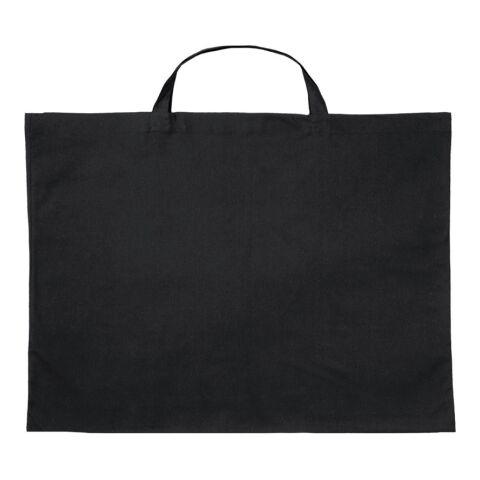 Sac en coton grand format de 70 x 50 cm avec petites anses noir | sans marquage | sans marquage
