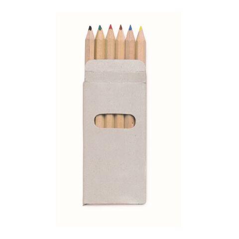 6 Crayons de couleur-étui en carton