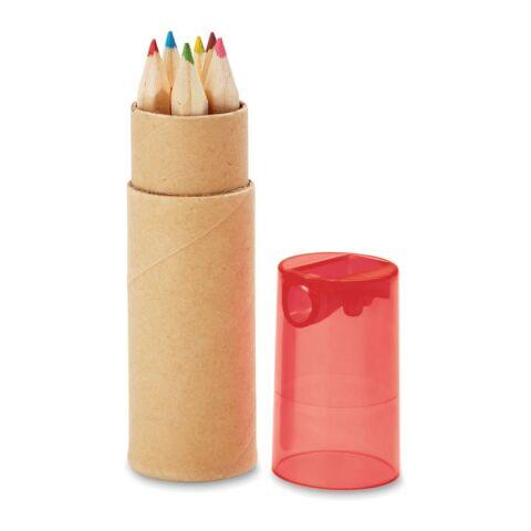 Tube de 6 crayons de couleur