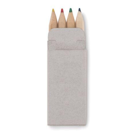 4 mini crayons de couleur-étui cartonne