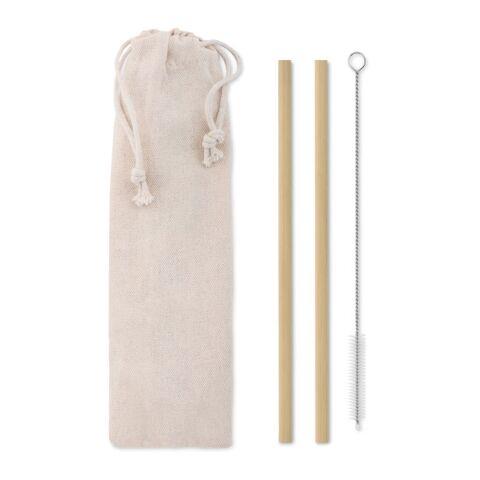 Paille bambou avec brosse.
