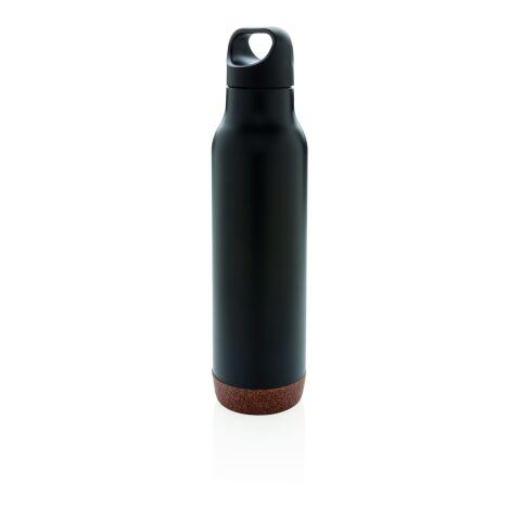 Bouteille isotherme et étanche avec finition liège noir | Tampographie 1 couleur | Arriere haut article | 25 mm x 80 mm | non disponible