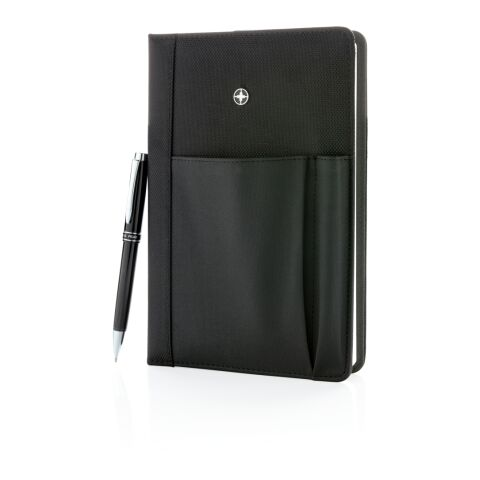 Set carnet de notes A5 et stylo noir | sans marquage | non disponible | non disponible | non disponible