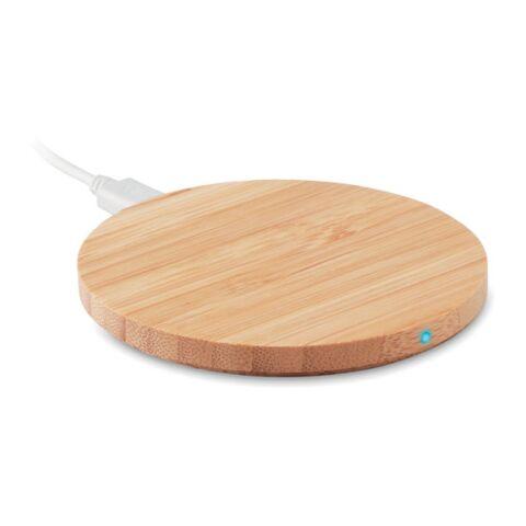 Chargeur sans fil en bambou bois | sans marquage | non disponible | non disponible