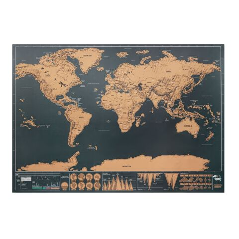 Carte du monde à gratter beige | sans marquage | non disponible | non disponible