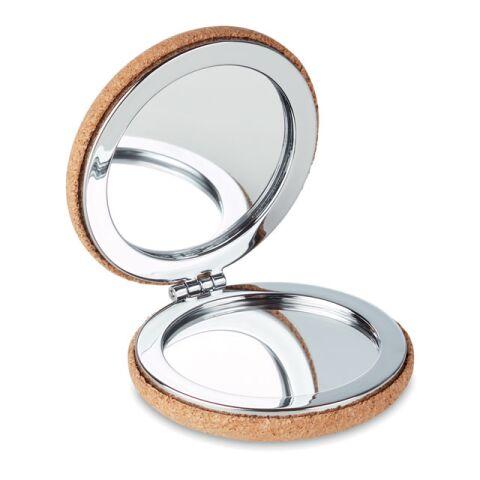 Petit miroir en liège beige | sans marquage | non disponible | non disponible