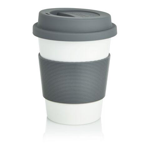 Tasse à café en PLA gris-blanc | Sans marquage | non disponible | non disponible