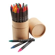 Tube de 30 crayons gras.