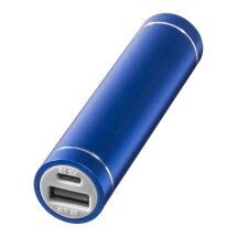 Bolt alu power bank 2200mAh LM bleu roi | Gravure laser | Top | 65 mm x 7 mm