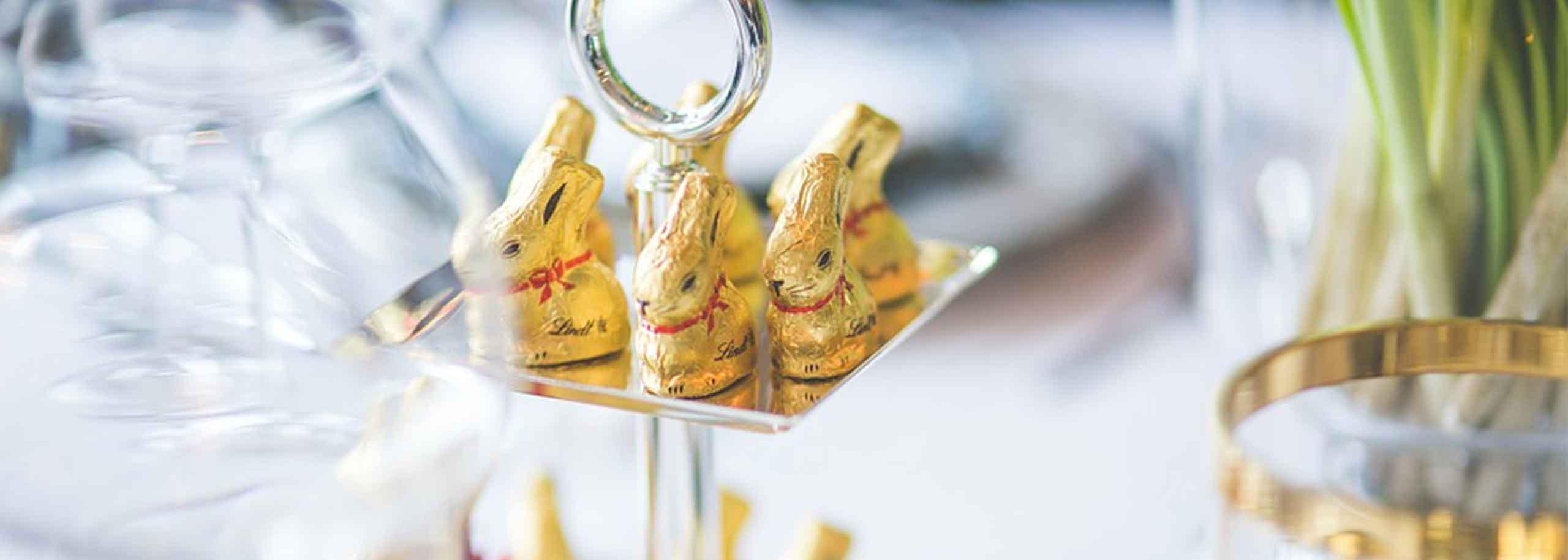 chocolats publicitaires de Pâques