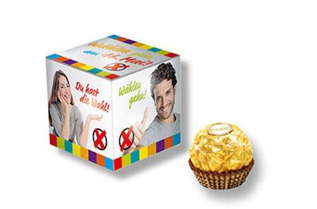 Mini-cube publicitaire Ferrero