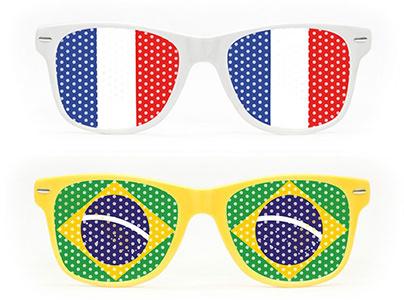 Lunettes de supporters coupe du monde