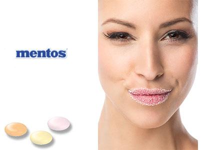 Mentos avec logo
